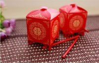 asian chairs - DHL Chinese Asian Style Red Double Happiness Sedan Chair Wedding favor box party gift favor candy box