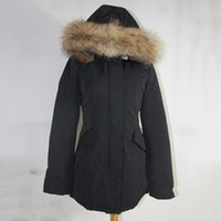 big red ribs - Big Raccoon fur Real picture Brand New Womens arctic Parka Warm Real Goose Feather Down Coat