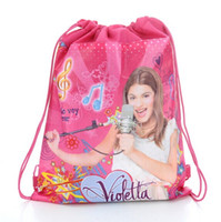 Wholesale violetta Drawstring bags violetta foreign trade printing double sided non woven Drawstring Bag Drawstring bags