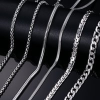 14k gold rope chain - Fashion Silver And Gold Chains Necklace For Men Female Stainless Steel Snake Chain inch Rope Chain Costom Jewelry Christmas p