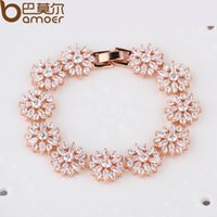 affordable jewelry - jewelry affordable BAMOER HOT Bracelet amp Bangle for Women Prong Setting Zircon Chain Bracelet Jewelry Gift for Female JIB007