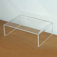 acrylic computer desk - 12 quot High quality Acrylic Computer Monitor Desk Riser Stand Clear L W mm H