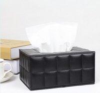 box facial tissue - New arrival white Black Sheepskin Tissue Boxes Car Lovely Creative Car European Car Leather Smoke Boxes facial tissue paper box