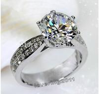diamonique engagement rings white gold - 001 Victoria Wieck Sz Engagement  White Topaz Diamonique KT Gold