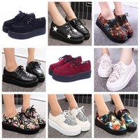 creepers - Creepers Shoes Woman zapatos mujer fashion Casual Vintage plus size creepers platform shoes Women Flats Shoes women Size