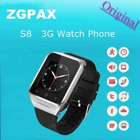 Wholesale ZGPAX S8 G Android Smart Watch Phone Smartphone Dual Core Screen MP Camera MB RAM GB ROM Wifi WCDMA GSM GPS