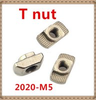 Wholesale M5 T NUT Hammer Head Fasten nut Connectors Aluminum T Fastener sliding nut series nut Nickel plated