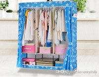 Wholesale 2015 New Fashion DIY Portable Oxford Wardrobe Clothes Storage Hanger Closet with Waterproof Cover