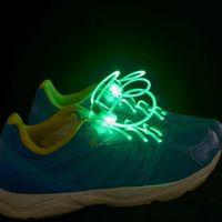 Cheap 500PCS HHA470 LED Flashing shoe laces Fiber Optic Shoelace Luminous Shoe Laces Light Up Shoes lace