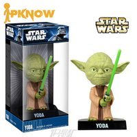 Cheap PKNOW FUNKO Marvel Star War Master Yoda Vehicle Model Doll Action Figure Stuffed Car Decoration PVC Plastic Cement Toy