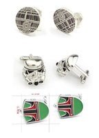 Wholesale 300pcs fashion designs star Wars Cufflinks Cuff Links Cartoon Jedi Knight Novelty Cufflinks Jewelry Cuff Links D527