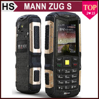 Wholesale MANN ZUG S quot Waterproof Shockproof Phone Dual SIM Long Standby Rugged Outdoor Bluetooth G GSM Multi Language Cellphone