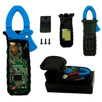 Wholesale New TURE RMS AUTO RANGE DIGITAL AC DC CLAMP METER WITH BACKLIGHT CALMP LIGHT CAP HZ INRUSH Free shippin