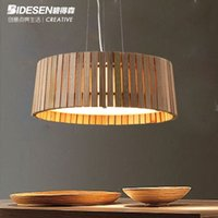 cornucopia - Designers Lighting Nordic IKEA living room dining room chandelier made simple wood cornucopia