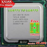 Wholesale For Intel Xeon X5355 GHz M Processor close to LGA771 Core Quad Q6600 CPU works on LGA mainboard Pieces Free
