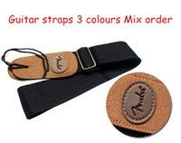 Wholesale Classic Electric Guitar Strap Electric Bass Strap Folk Guitar Straps m colours Mix order