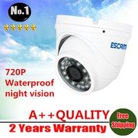 Wholesale ESCAM QD520 Night vision P Security IP Camera Waterproof ONVIF SUPPORT H mm Lens P2P Cloud Surveillance camera