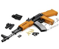 Wholesale AK Gun Model Toys Building Blocks Sets Educational DIY Assemblage Bricks Toy