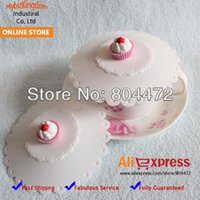 silicone cup lid - x Lovely Silicone Airtight Cup Coffee Mug Lid Cover Cap Cake White