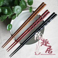 area natural - Japan and wind carved wooden chopsticks natural wenge wood Japanese chopsticks portable creative catering appliances area B