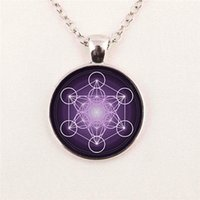 art of glass - Picture Flower of Life Pendant Chakra Sacred Geometry Jewelry Art Glass Cabochon pendant glass gemstone necklace