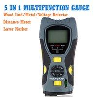 Wholesale 5 in1 Multifunction Gauge Distance Meter Wood Stud Meter Metal Voltage Detector Laser Marker with Excellent Quality