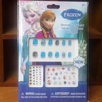 Wholesale cartoon Frozen hot sale children girl beautiful waterproof PVC Nail stick be removed Nail stick top high quality