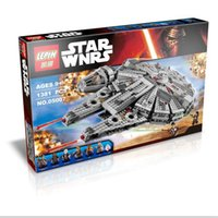 plastic building blocks toys - 2016 New LEPIN Star Wars Millennium Falcon Force awakening assembling building blocks toys compatible with