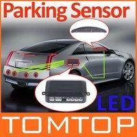 Wholesale Unbeatable At X Car LED Parking Sensor Assistance Reverse Backup Radar Monitor System Backlight Display Sensors colors