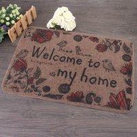 Wholesale New Home Welcome Mats Cartoon Carpets Flower Bird Pattern For Living Room Bedroom Bathroom Decorative