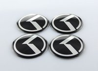 acura logo sticker - trim you x60mm K Logo Wheel Centre hub Cap Sticker Badge Wheel Trims for KIA OPTIMA K5 exterior accessories D sticker