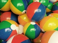 Wholesale Beach ball The new six color beach ball PVC inflatable toys air filled ball cm color children s toys