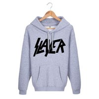 band slayer - Hooded Pullover SLAYER Rock Band Brand Hip Hop Spring Autumn Winter Hoodies Men Cotton Sports Sweatshirts