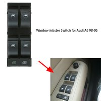 audi driver - Black Button Electric Power Window Master Switch Front Left Driver for Audi A6 K3387