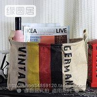 Wholesale Zakka groceries Storage basket Storage basket Huangmabu German flag banner frontier Home Clearance Special
