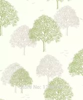 Wholesale Modern Simple Art Trees Forests on Light Blue Wallpaper bedroom living room decoration factory outlets wallpapers roll wall paper