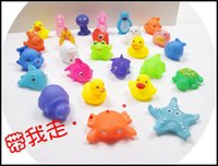 Cheap 2015 kids Rubber water toys toddler baby bath swimming toys yellow ducks Animal BB call sound dolls kids gift J071301# DHL