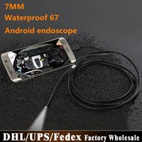 Cheap DHL Fedex 100pcs lot 1M Android OTG Endoscope 7mm Mini Waterproof Borescope Inspection Tube Pipe Camera for Samsung Galaxy