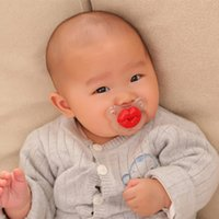 Wholesale Baby Pacifier Feeding Dummy Soother Nipples Novelty Pacifier Clip Newborn Baby Pacifier Random Color VT0148 Salebags