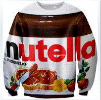 Wholesale 2014 Autumn Winter Hot Fashion Nutella Men Women Sweatshirt Couples Sweats Unisex Sweater D Tops Casual Shirt Tshirt Sportwear W217