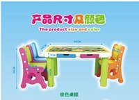 Wholesale Children more than parent child cartoon learning table Children learn table and chair set The student table