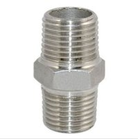 Wholesale Hot Sale x1 quot Malex quot Male Hex Nipple Stainless Steel Threaded Pipe Fitting NPT