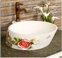 antique stone sinks - European antique art artificial stone carve patterns or designs on woodwork on the basin that wash a face pool bathroom sink
