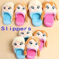 Wholesale Frozen Slippers Elsa Anna princess Cartoon Slippers Household Breathable Sweat Slippers Kids Children And Men And Women Slippers GZ GD45