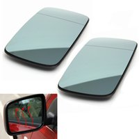 Wholesale Pair Left Right Blue Heated Wing Mirror Glass For BMW Series E46 order lt no track