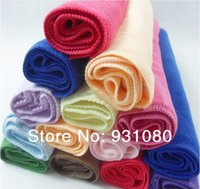 Wholesale 2 piece Random Color absorbent microfiber hand towel daily household cleaning wipes to scrub cars Towel