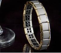 magnetic beads - 2015 NEW Energy Magnetic Titanium Germanium Bracelet nano bracelet