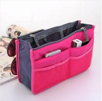 Wholesale HOT Sale Colors Make up organizer bag Women Men Casual travel bag multi functional Cosmetic Bag storage bag in bag Handbag
