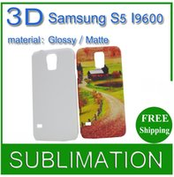 Wholesale 20pcs D Blank Sublimation Phone cover case For Galaxy s5 I9600