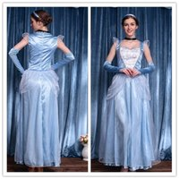 adult cinderella halloween costumes - Sexy Halloween Costumes For Women Adult Romantic Midnight Princess Costume Cinderella Dresses Princess Outfit Uniform Puff Cap Sleeve H39303